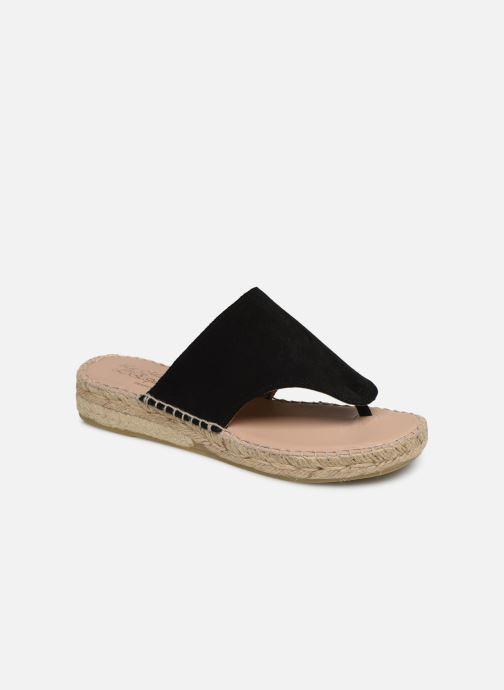 Sandales et nu-pieds La maison de l'espadrille Tong 701 Noir vue détail/paire