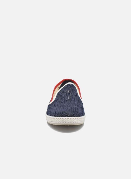 Mocassins Rivieras Tour Du Monde Bleu vue portées chaussures