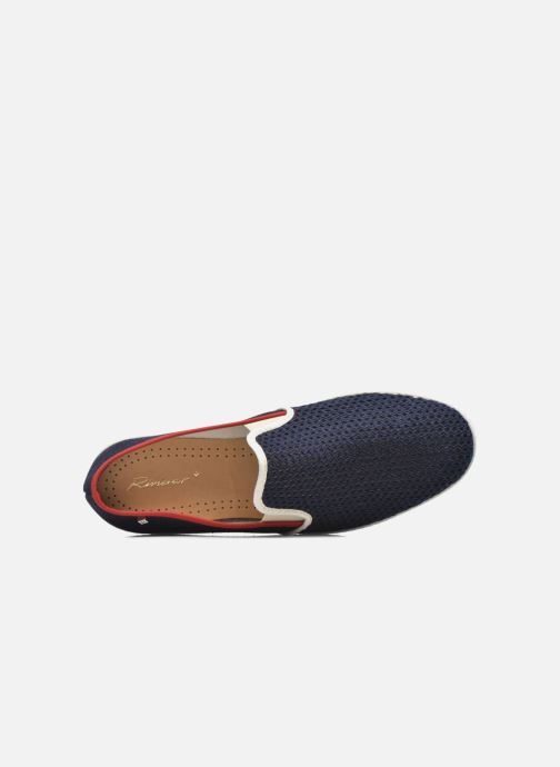 Loafers Rivieras Tour Du Monde Blue view from the left