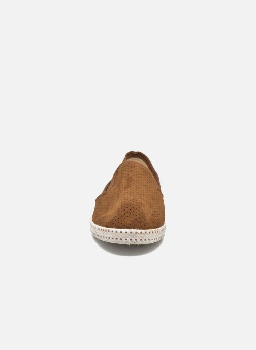 Mocassins Rivieras Suntan Classic 30° Marron vue portées chaussures