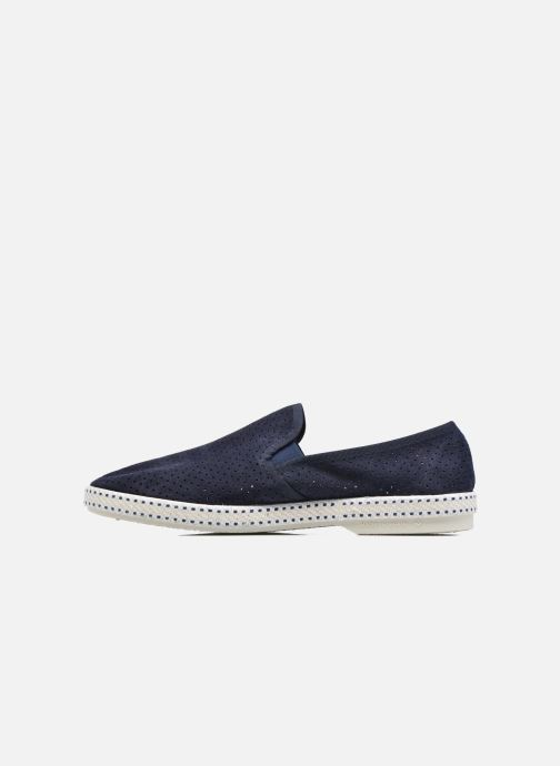 Loafers Rivieras Suntan Classic 30° Blue front view
