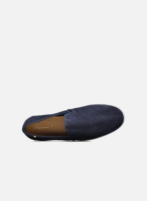 Loafers Rivieras Suntan Classic 30° Blue view from the left