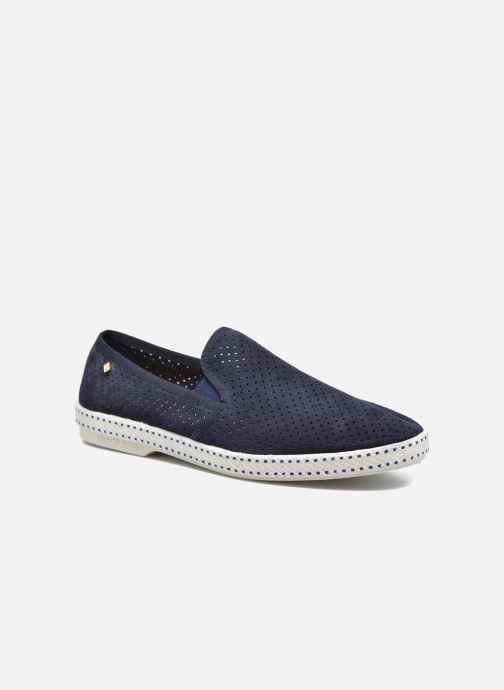 Loafers Rivieras Suntan Classic 30° Blue detailed view/ Pair view