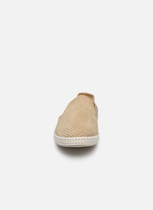 Mocassins Rivieras Suntan Classic 30° Beige vue portées chaussures