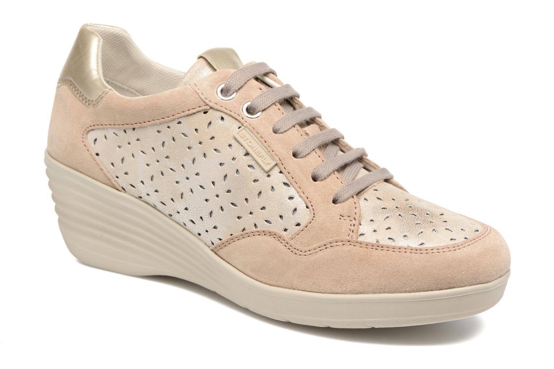 Sneakers Stonefly Ebony 22 Beige detaljeret billede af skoene