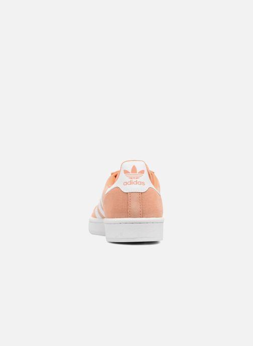 Baskets adidas originals Campus Orange vue droite