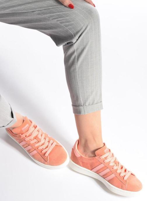 Trainers Adidas Originals Campus W Pink view from underneath / model view