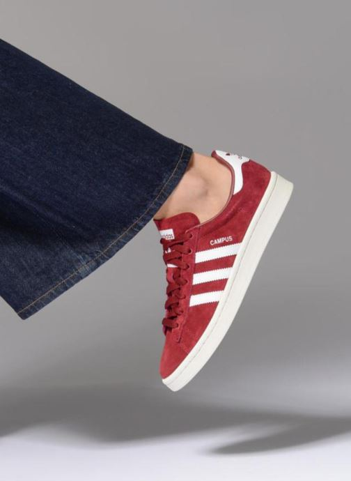 Trainers adidas originals Campus W Burgundy view from underneath / model view