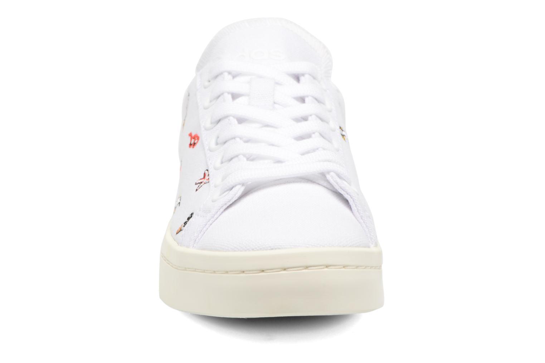 Deportivas Adidas Originals Courtvantage W Blanco vista del modelo