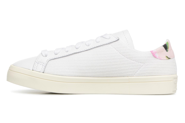 Baskets Adidas Originals Courtvantage W Blanc vue face