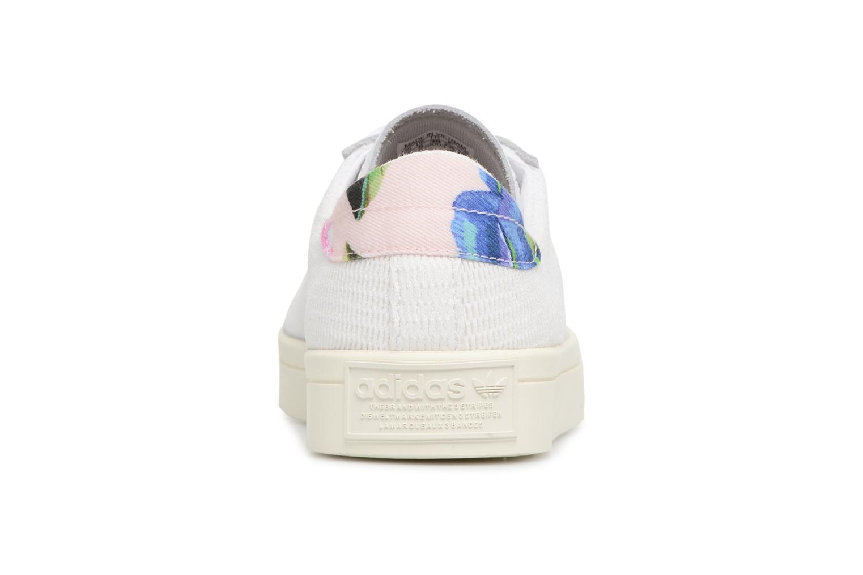 Baskets Adidas Originals Courtvantage W Blanc vue droite
