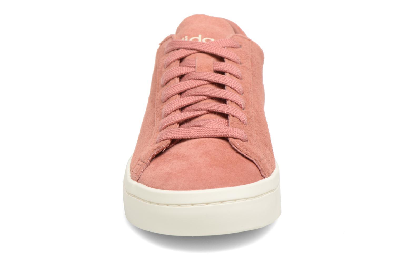 Sneaker Adidas Originals Courtvantage W rosa schuhe getragen