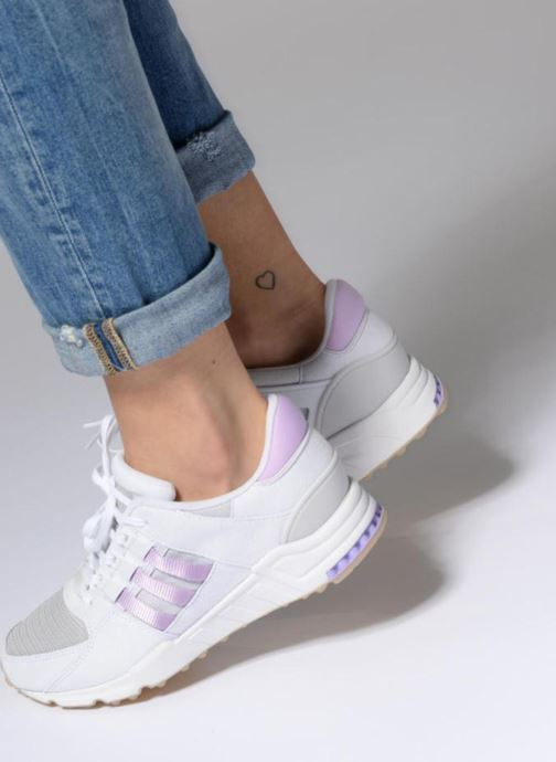 Trainers adidas originals Eqt Support Rf W Purple view from underneath / model view