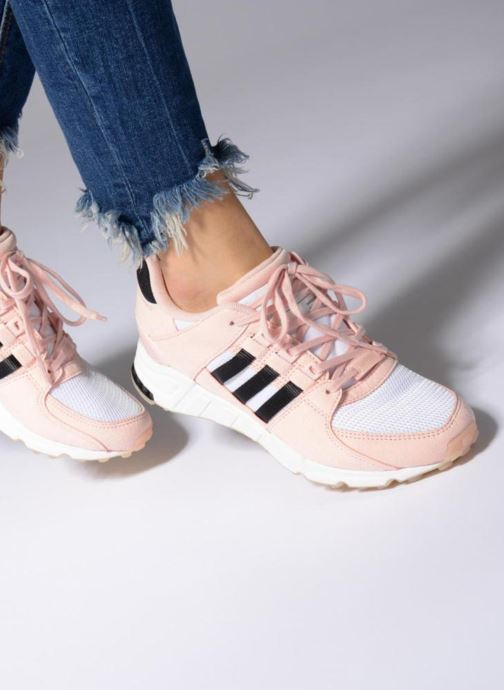 Trainers adidas originals Eqt Support Rf W Pink view from underneath / model view