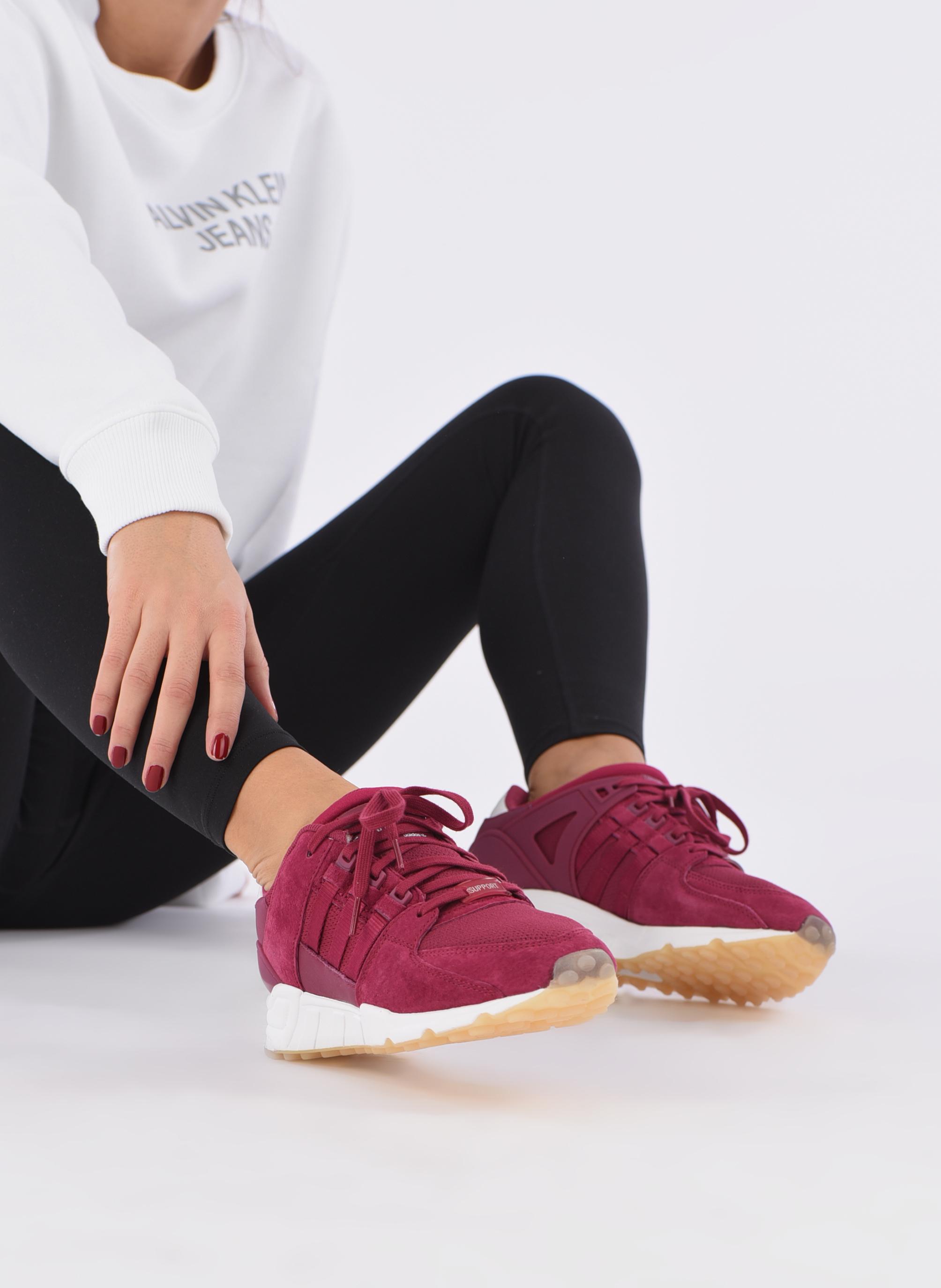 Baskets Adidas Originals Eqt Support Rf W Bordeaux vue bas / vue portée sac