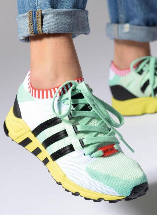 sale retailer 259d6 31d54 Baskets Adidas Originals Eqt Support Rf Pk W Multicolore vue bas  vue  portée sac