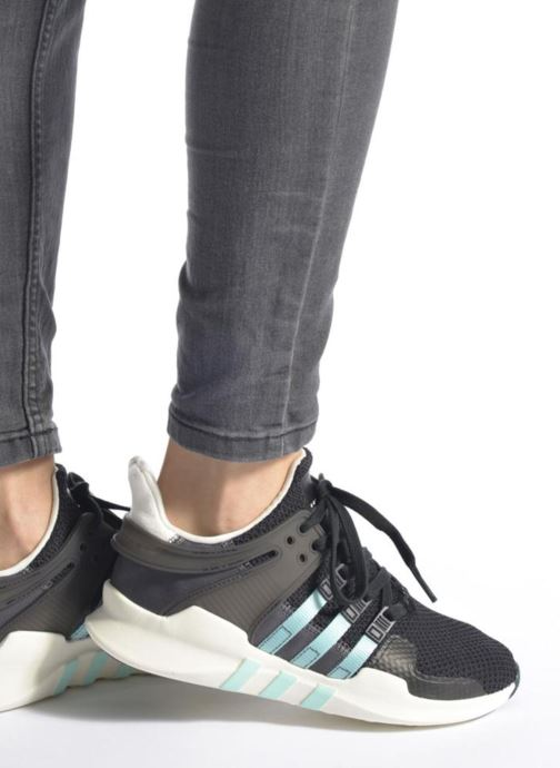 Baskets adidas originals Equipment Support Adv W Noir vue bas / vue portée sac
