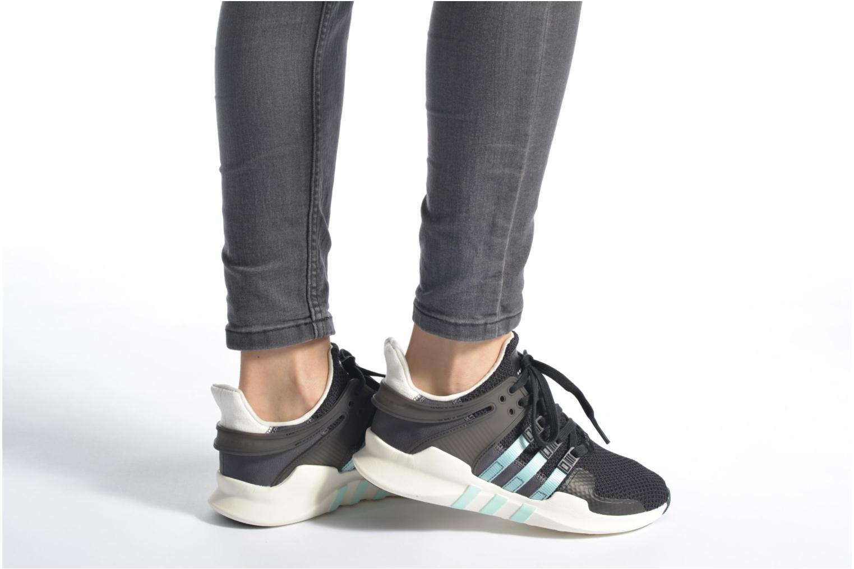 Baskets Adidas Originals Equipment Support Adv W Blanc vue bas / vue portée sac