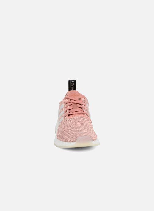 Sneakers adidas originals Nmd_R2 W Rosa modello indossato
