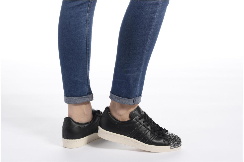 Sneaker Adidas Originals Superstar 80S 3D Mt W weiß ansicht von unten / tasche getragen