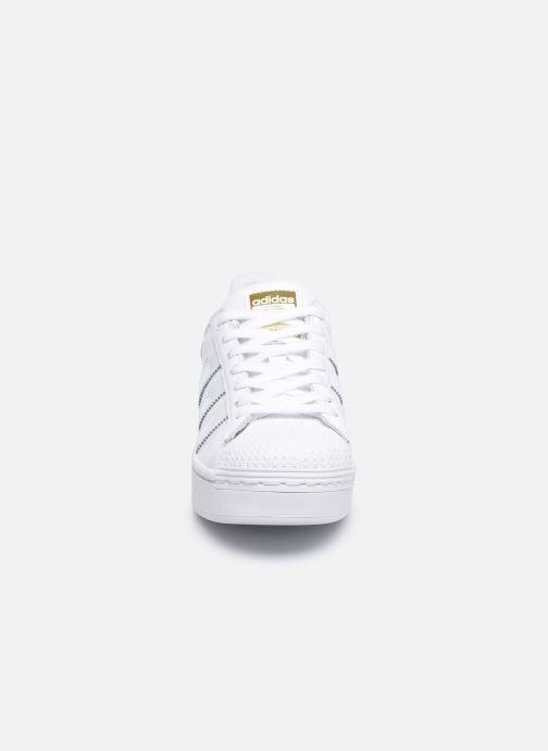 Sneaker adidas originals Superstar Bold W weiß schuhe getragen