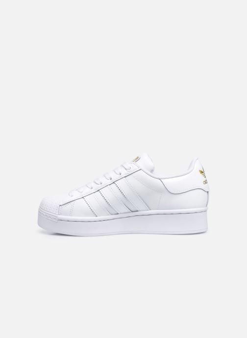 Sneaker adidas originals Superstar Bold W weiß ansicht von vorne