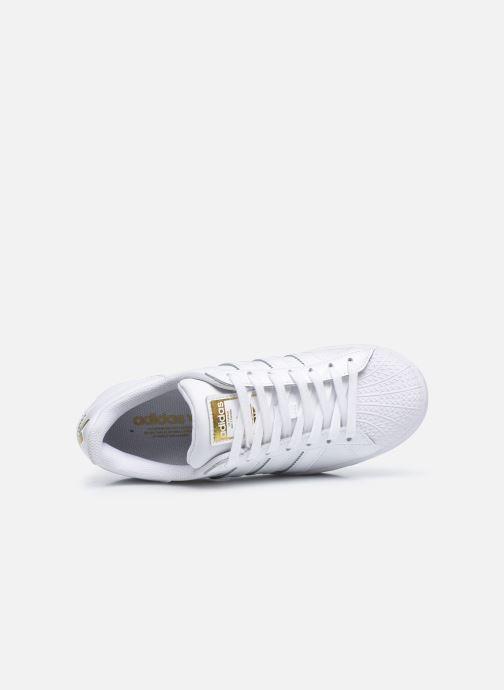 Sneaker adidas originals Superstar Bold W weiß ansicht von links