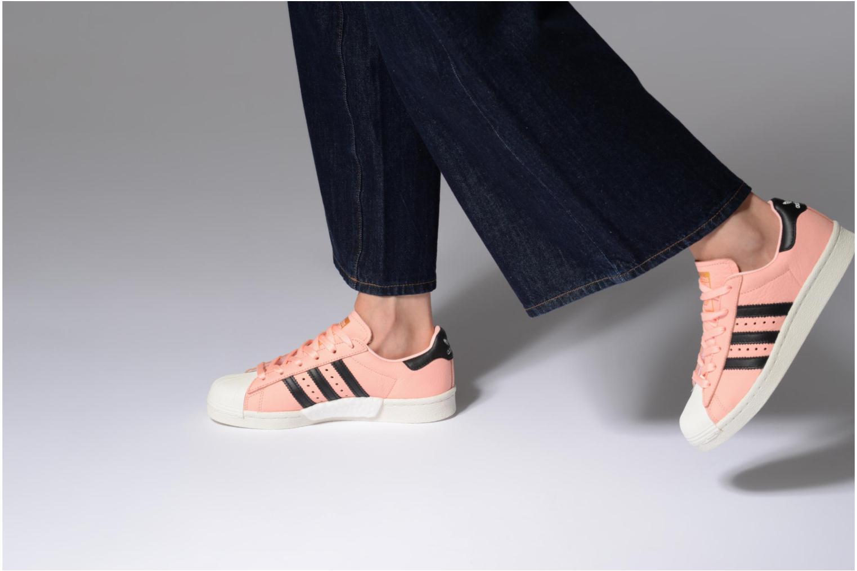 Baskets Adidas Originals Superstar Boost W Rose vue bas / vue portée sac