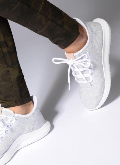 Baskets adidas originals Tubular Shadow W Bleu vue bas / vue portée sac