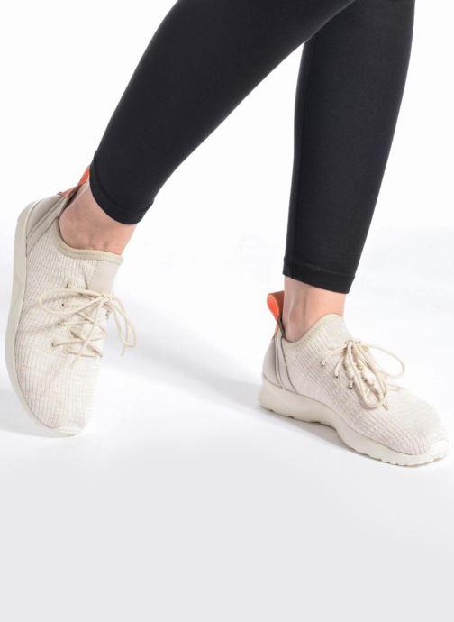Baskets adidas originals Zx Flux Adv Virtue Sock W Beige vue bas / vue portée sac