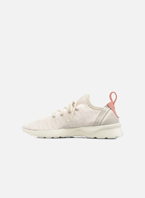 Baskets adidas originals Zx Flux Adv Virtue Sock W Beige vue face