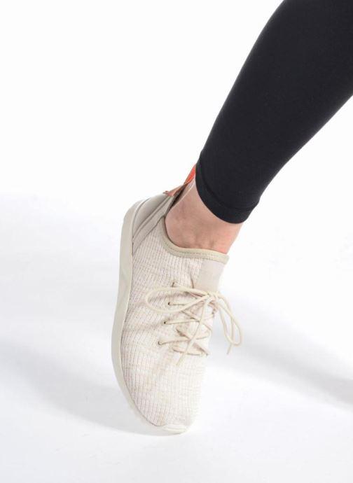 Sneaker adidas originals Zx Flux Adv Virtue Sock W grau ansicht von unten / tasche getragen