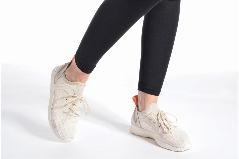 Baskets Adidas Originals Zx Flux Adv Virtue Sock W Gris vue bas / vue portée sac