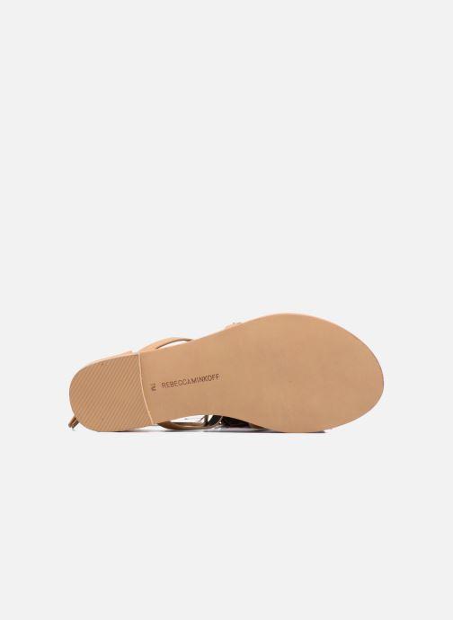 Sandales et nu-pieds Rebecca Minkoff Elisha Beige vue haut