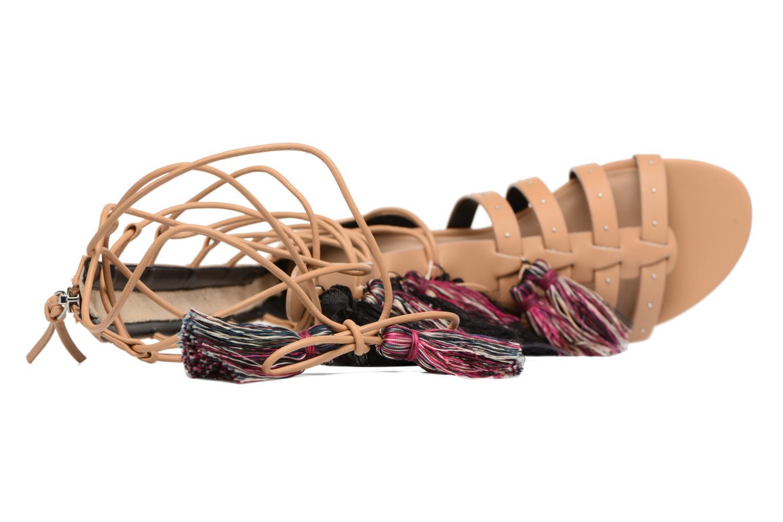 Sandales et nu-pieds Rebecca Minkoff Eve Beige vue gauche