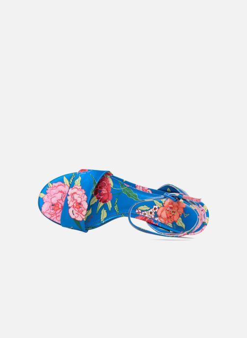 Sandalias Aldo LOLLA Azul vista lateral izquierda