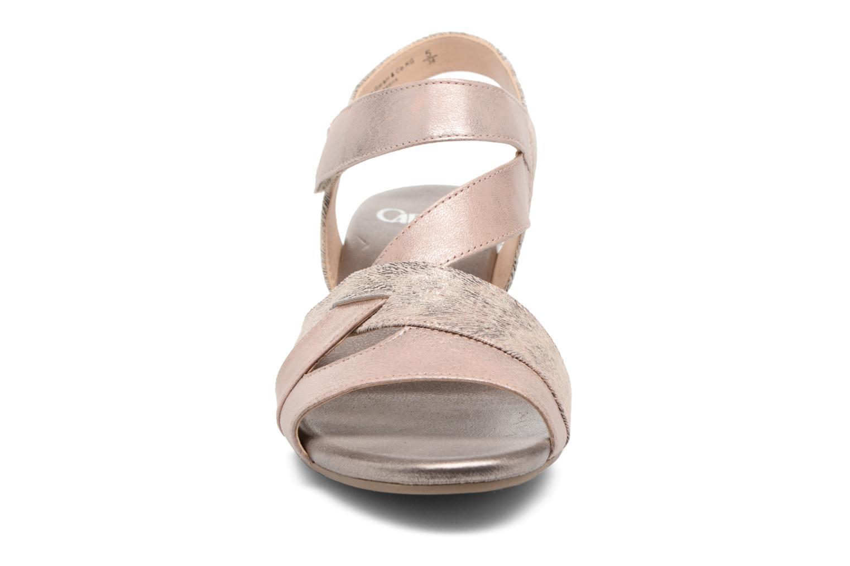 Sandales et nu-pieds Caprice Arielle 2 Rose vue portées chaussures