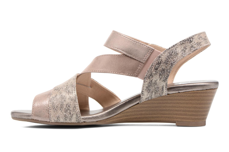 Sandales et nu-pieds Caprice Arielle 2 Rose vue face