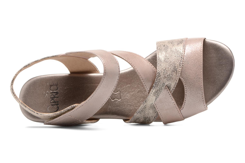 Sandales et nu-pieds Caprice Arielle 2 Rose vue gauche