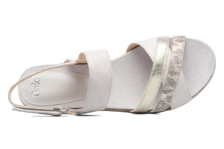 Sandali e scarpe aperte Caprice Cynthia Bianco immagine sinistra