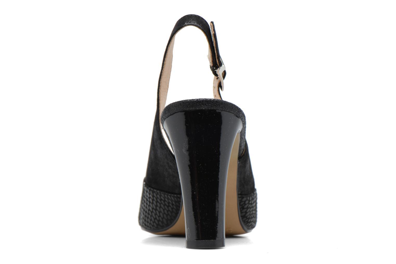 Zapatos de tacón Caprice Effi Negro vista lateral derecha