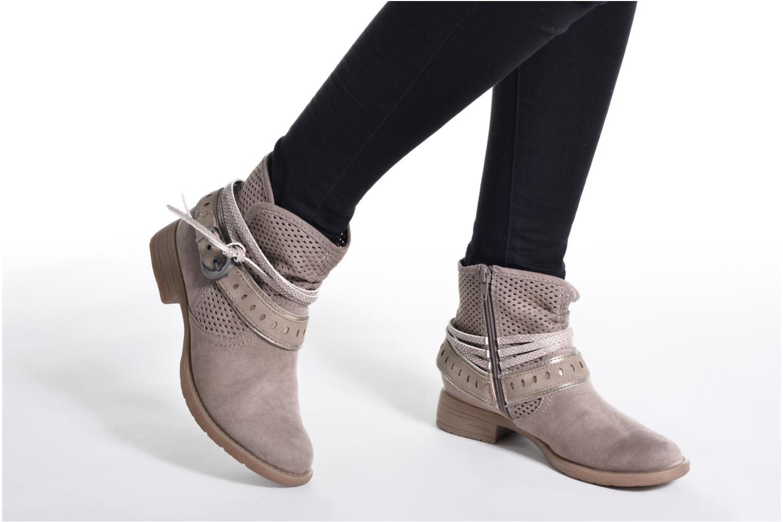 Botines  Jana shoes Nani Beige vista de abajo