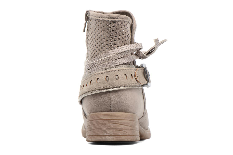 Botines  Jana shoes Nani Beige vista lateral derecha