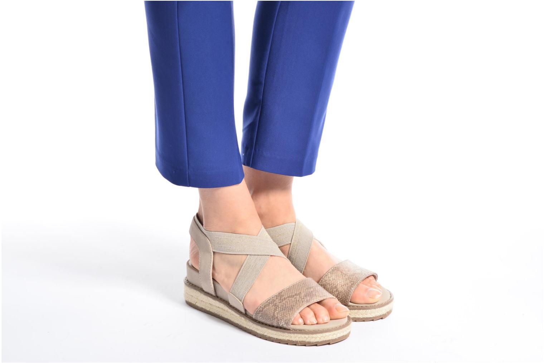 Sandalias Jana shoes Meli Marrón vista de abajo