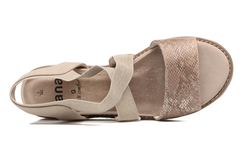 Sandalias Jana shoes Meli Marrón vista lateral izquierda