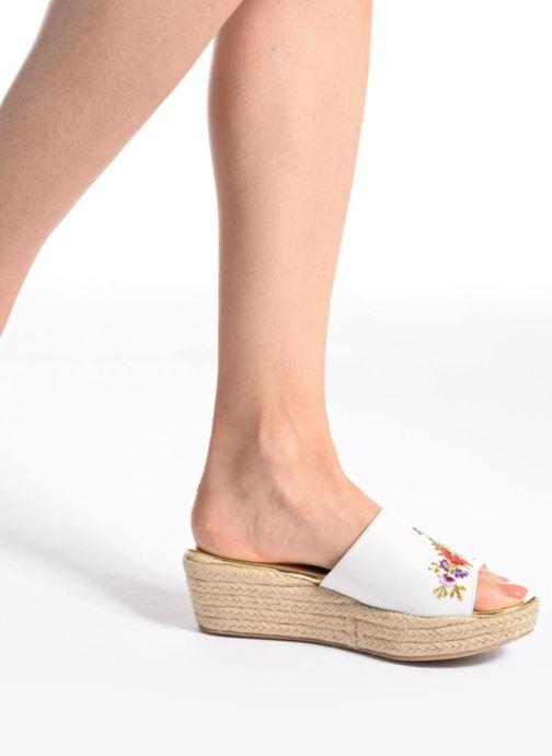 Clogs & Pantoletten Dune London Karri mehrfarbig ansicht von unten / tasche getragen