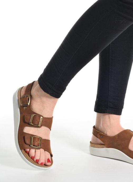 Sandales et nu-pieds El Naturalista Koi N5091 Marron vue bas / vue portée sac