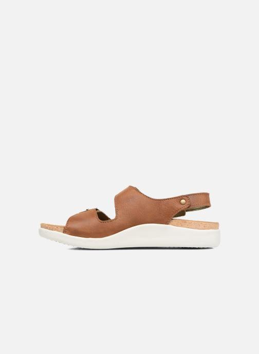 Sandales et nu-pieds El Naturalista Koi N5091 Marron vue face