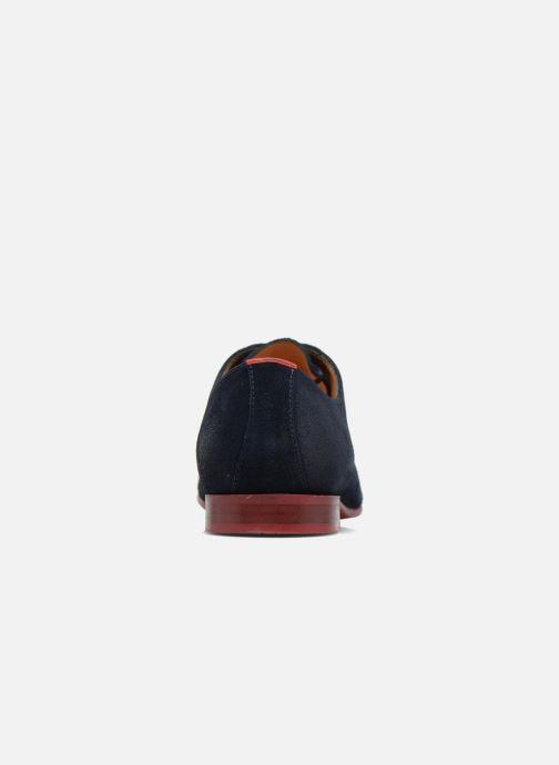 Zapatos con cordones HE Spring Peter Azul vista lateral derecha