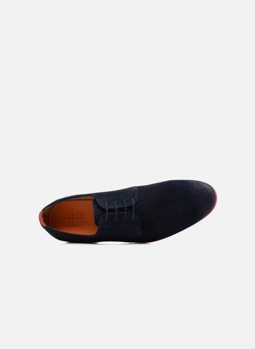 Zapatos con cordones HE Spring Peter Azul vista lateral izquierda